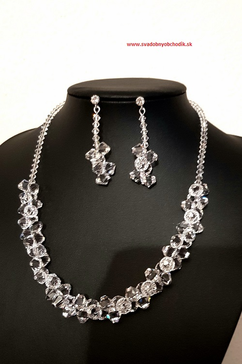 617fb5d27 Luxusná štrasová súprava SWAROWSKI náušnice + náhrdelník